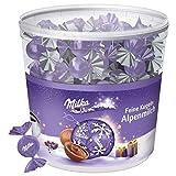 Milka Feine Kugeln Alpenmilch 1 x 900g, 100 einzeln verpackte Schokoladenkugeln mit Alpenmilch Füllung