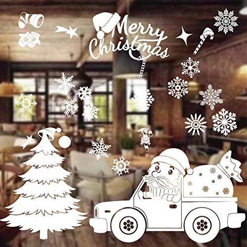 MEISHANG Weihnachten Fenstersticker,Weihnachten...