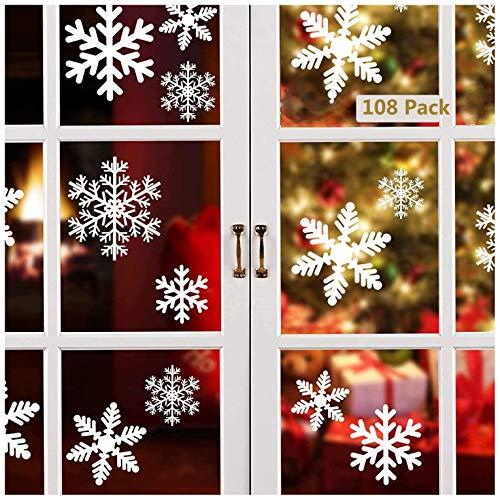 Lynlon 108 Fensterdeko Schneeflocken Schneeflocken...