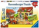 Ravensburger Kinderpuzzle 07560 - Fleißig auf dem Bauernhof - 2 x 12 Teile