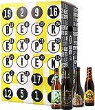 Bier Adventskalender 24 Flaschen verschiedene internationale Biere aus aller Welt als Geschenkbox (24 x 0,33l)