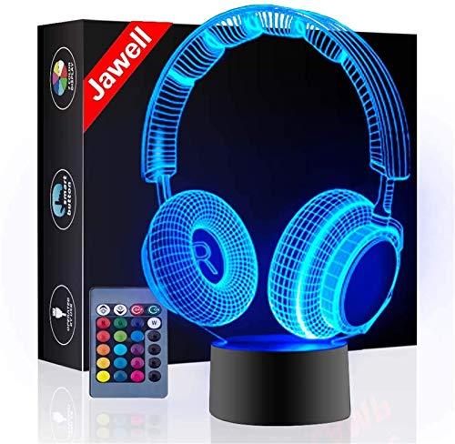 Kopfhörer 3D Illusion Lampe Weihnachtsgeschenk...