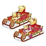 Lindt Teddy im Schlitten, Ideales Weihnachts-Geschenk für Kinder, 6er Pack (6 x 140 g)