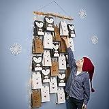 ExcTech Riesiges Bastelset für einen großen Adventskalender aus Papiertüten in Tierform zum selbst basteln und gestalten mit viel Zubehör und Anleitung zur Anregung