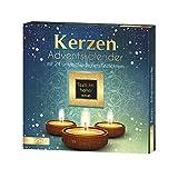 ROTH Kerzen-Adventskalender 2020 gefüllt mit Teelichtern und Duftkerzen, Motivkerzen-Kalender für die Vorweihnachtszeit