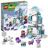 LEGO 10899 DUPLO Princess Frozen Elsas Eispalast, Bausatz mit einem Leuchtstein, Prinzessin Elsa und Anna Minipuppen sowie Schneemann Figur, Spielzeuge für Jungen und Mädchen im Alter von 2 Jahren