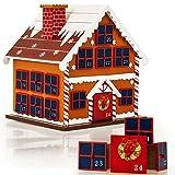 Wiederverwendbarer Adventskalender zum Befüllen 24 Türchen Weihnachten Kinder DIY weihnachtliche Holz Dekoration