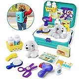 GizmoVine Arztkoffer Kinder ab 3 Jahre, Hundespielzeug Doktor Kit Rollenspiel Spielzeug, Tierarzt Spielzeug mit Rucksack für Jungen und Mädchen 2 3 4 5 6