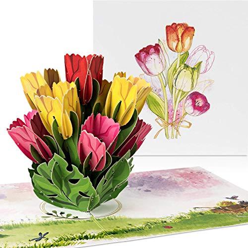 "PaperCrush® Pop-Up Karte Blumen ""Bunte..."