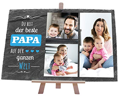 wandmotiv24 Schiefertafel Bester Papa,...