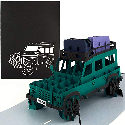 PaperCrush® Pop-Up Karte Geländewagen - 3D...