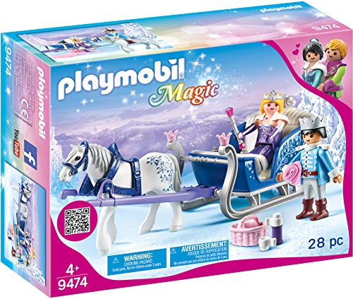 PLAYMOBIL Magic 9474 Schlitten mit Königspaar, Ab...