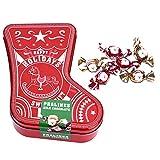 Weihnachtsdose in Strumpfform - Blechdose gefüllt mit Schoko-Pralinen - 190 g