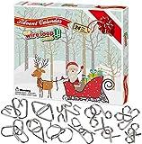 Wesimplelife 2020 Weihnachten Adventskalender 24 Stück Holiday Surprises Brain Teaser Wireloop Puzzles Countdown-Kalender für Kinder Mädchen Jungen Erwachsene