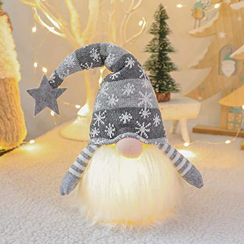 FALAMKA Weihnachten GNOME Plüsch Lichter Handmade...