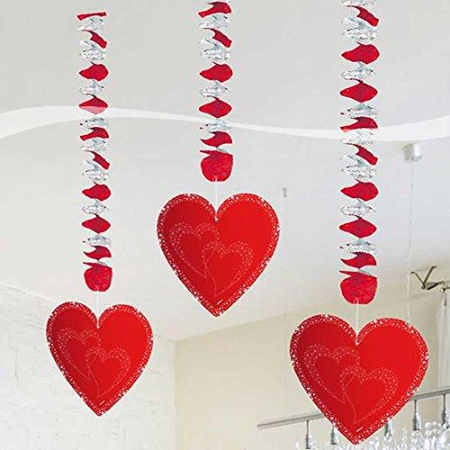 Folat Hochzeit Hänge-Spiralen mit Herzen...