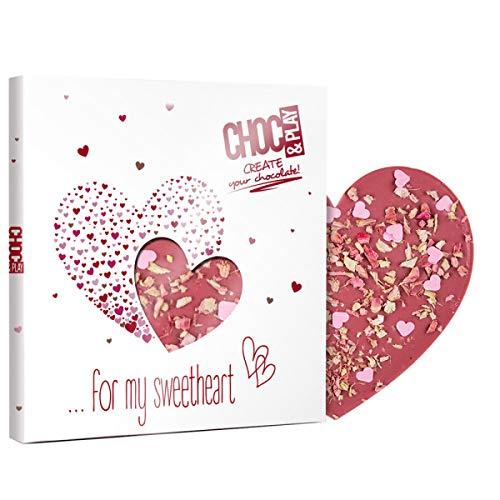 Ruby Herz mit Rhabarber - Schokolade Herz rosa |...