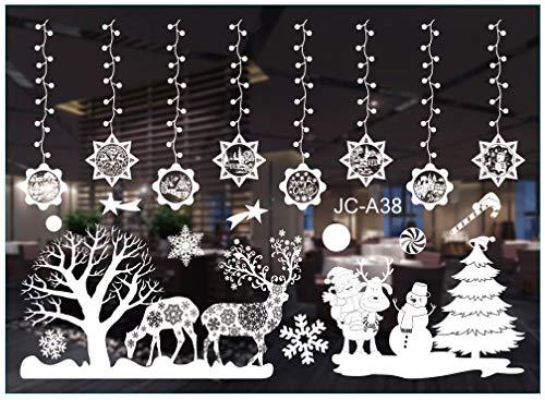 Gxhong Fensteraufkleber Weihnachten, Weihnachten...