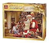 KING 5767 Puzzle Weihnachtsmann Liste 1000 Teile, vollfarbig, 68 x 49 cm