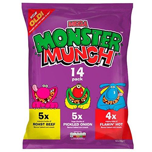 Walkers Monster Munch Vielfalt Snacks 12 x 22g