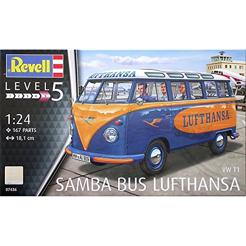 Revell 07436Bausatz VW T1Samba Bus Lufthansa,...