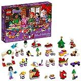 LEGO 41420 Friends Adventskalender 2020, Weihnachten Mini Bauset mit Emma, Elfen und Santa Workshop