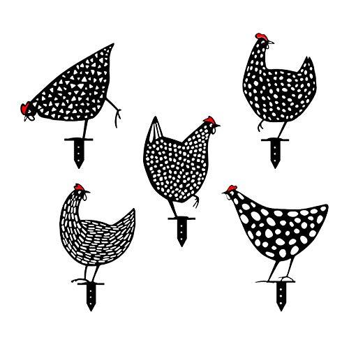 Chicken Yard Art Gartenschilder - Gartenfigur...