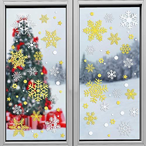 MELLIEX Weihnachtsdeko, 106 Schneeflocken...
