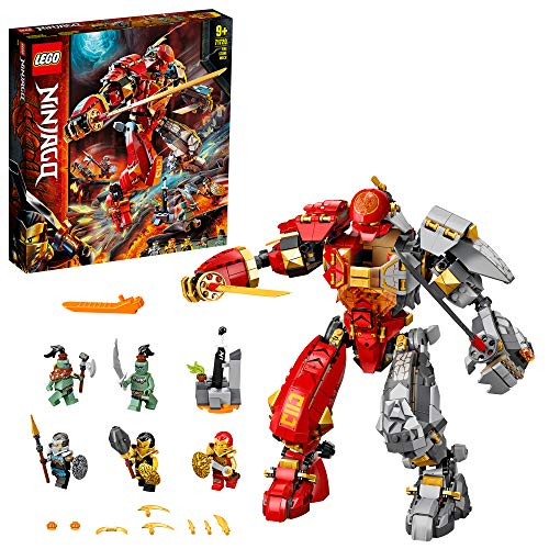 LEGO 71720 NINJAGO Feuer-Stein-Mech Spielzeug,...