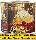 KALEA Bieradventskalender Edition International, neue Bestückung 2020, Bierverkostung mit Bieren aus 22 Ländern, Internationale Biere und 1 Verkostungsglas, 24 x 0.33 l Flaschen, Biere der ganzen Welt