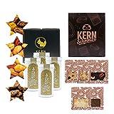 KERNenergie Weihnachten Geschenkset - Schokolade & Nuss | Frisch auf Bestellung geröstete Nüsse und KERNe in 8 festlichen Nussmischungen | Feinkost Geschenk in Premium Qualität