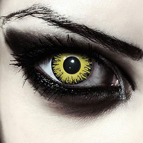 Gelbe farbige Pennywise Kontaktlinsen ohne Stärke...