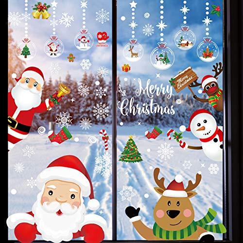 188 PCS Fensterbilder Weihnachten Selbstklebend,...