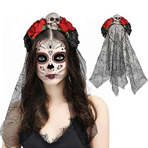HOWAF Halloween Tag der Toten Haarreif und...