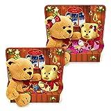 Lindt Teddy mit Plüschfigur, Ideales Weihnachts-Geschenk für Kinder, 2er Pack (2 x 100 g)