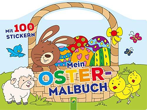 Mein Oster-Malbuch: Mit 100 Stickern und...