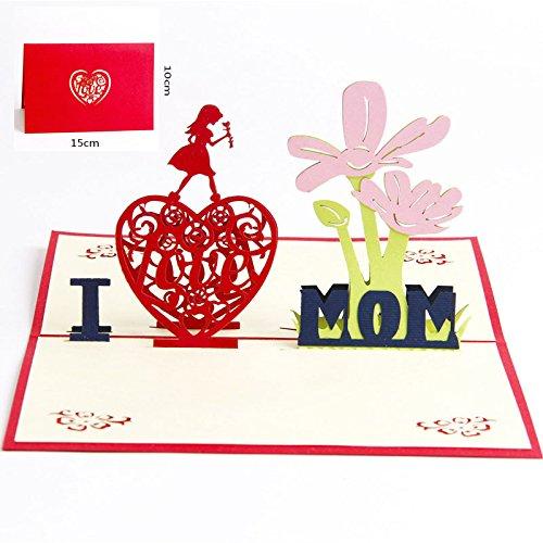 Deesospro® Muttertagskarte,Papier Spiritz...
