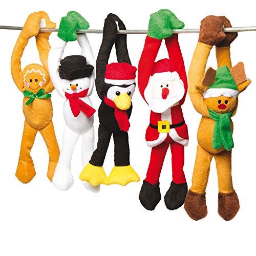 Baker Ross Weihnachtliche hängende Plüschtiere...