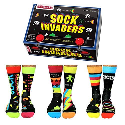 Sock Invaders Retro Gamer Oddsocks Socken in 39-46...