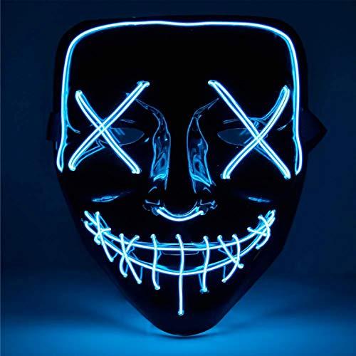 TK Gruppe Timo Klingler LED Grusel Maske blau -...