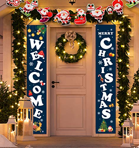 Idefair Frohe Weihnachten Banner, Neujahr Outdoor...