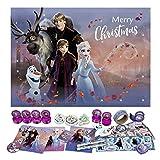 Undercover FRUW8024 Adventskalender für Mädchen mit 24 Schreibwaren Überraschungen, Zauberhaftes Disney Frozen Motiv, ca. 45 x 32 x 3 cm