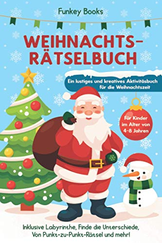 Weihnachtsrätselbuch für Kinder im Alter von 4...