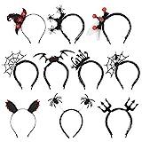 Halloween Haarreifen 10 Pcs Fledermaus Stirnband Fledermaus Haarreifen Spinnennetz Stirnband Cosplay Spinne Haarreif für Dress up Halloween Requisiten Cosplay Headwear