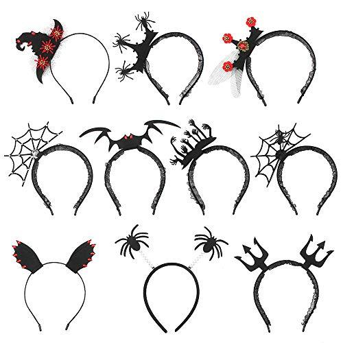 Halloween Haarreifen 10 Pcs Fledermaus Stirnband...