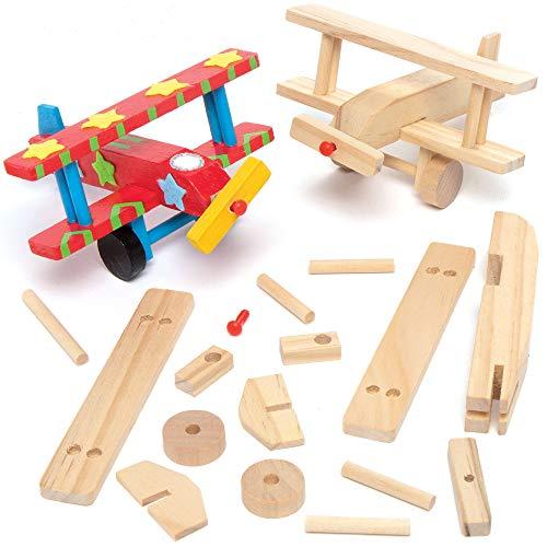 Baker Ross Holzflugzeug-Bastelsets - für Kinder...