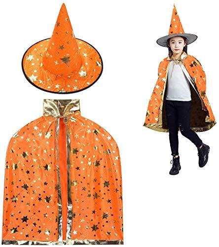 Rmeet Halloween Zauberer Kostüm,Zauberer Umhang...