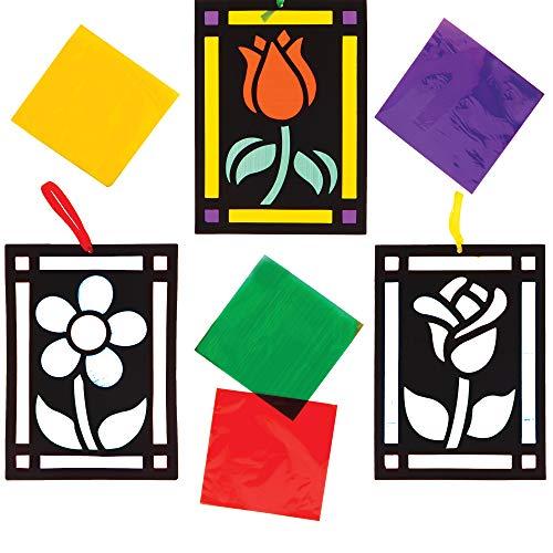 Baker Ross Buntglas Effekt Blumen Bastelsets für...