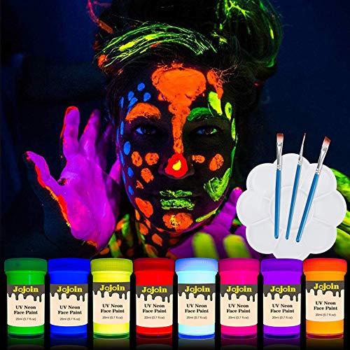 Jojoin UV-Bodypaint Körpermalfarben Schwarzlicht...