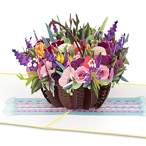 "PaperCrush® Pop-Up Karte Blumen ""Bunter..."